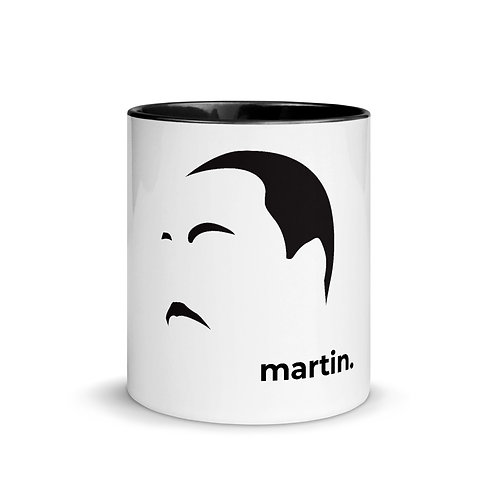 martin. Mug with Color Inside