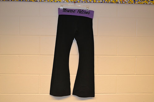 "Yoga ""Monroe Falcons"" Pants - Open Bottom - Black"