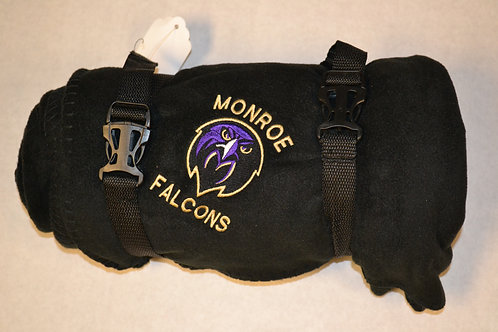 Fleece Blanket - Falcon Head Logo - Black