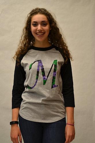 "Baseball ""M"" Shirt - 3/4 Sleeve"