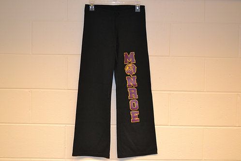 """Yoga """"MONROE"""" Pants - Open Bottom - Black"""