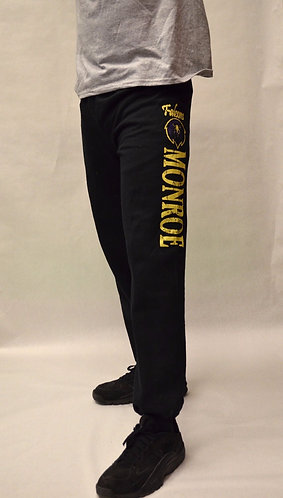 "Sweatpants Black ""MONROE"" - Elastic Bottom - Black"