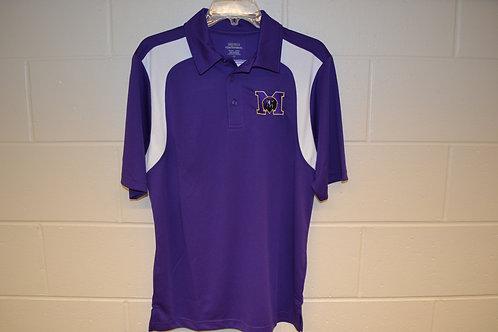 Polo Shirt - Purple & White