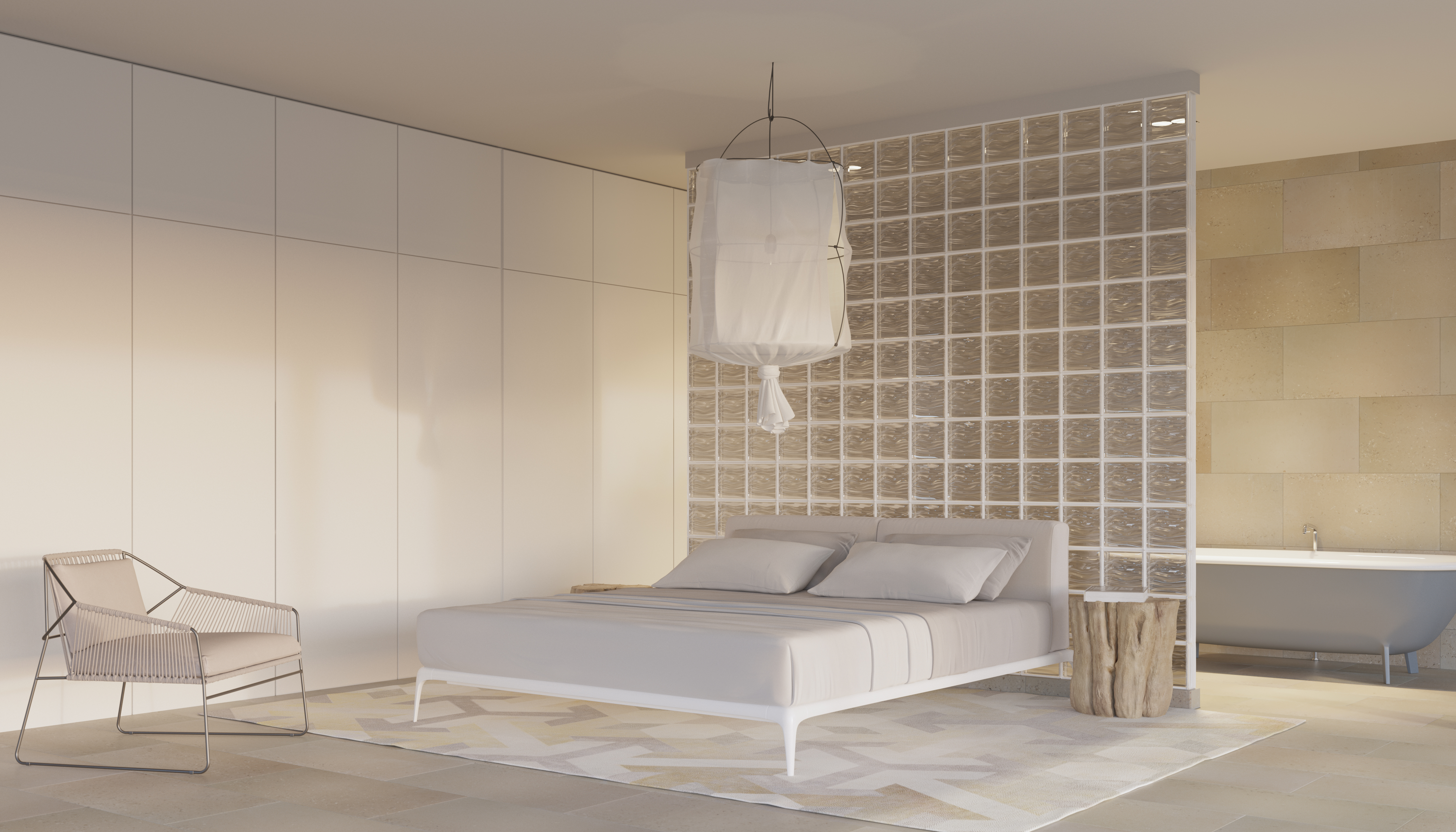 Agua Perla Bedroom Dividing Wall