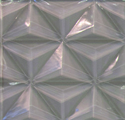 Silver White 3D Glass Tile