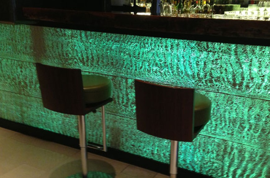 translucent concrete bar