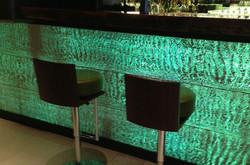 translucent concrete bar