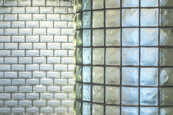 Silver Metallic Glass Tile Walls
