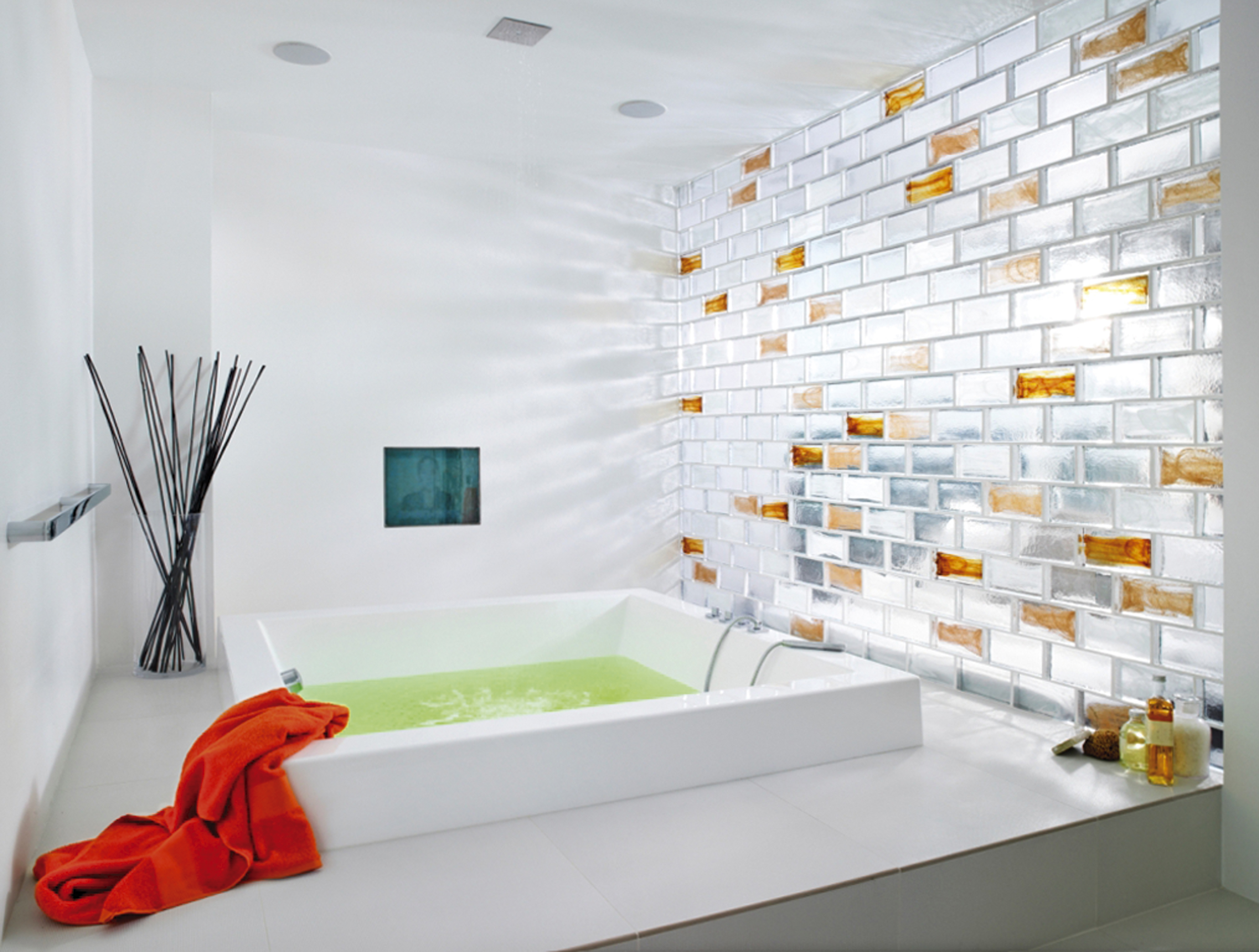 Glass Brick Dividing Wall