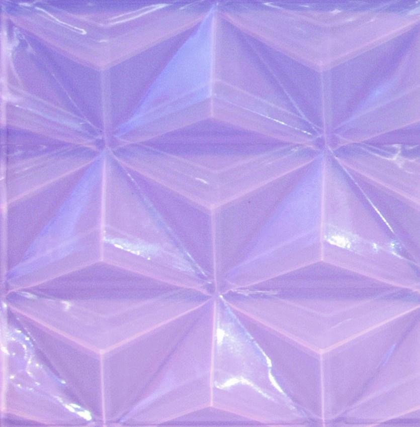 Pastel Rose 3D Glass Tile
