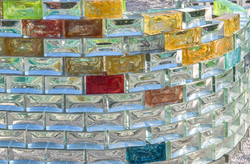 coloured injected glass wall