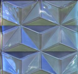 Sky Silver 3D Glass Tile