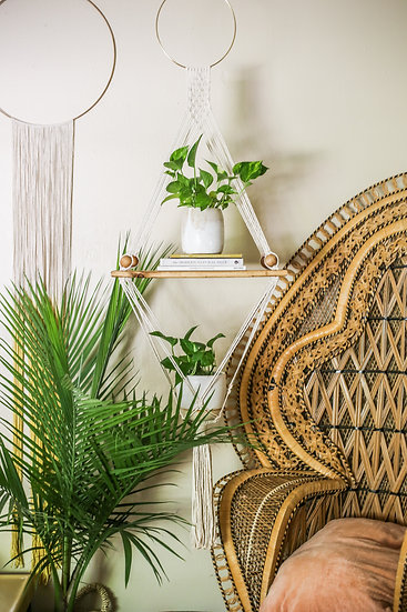 Macrame Shelf || Combo Planter + Shelving