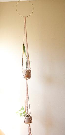 THE BOBBI || Double-Tier Woven Hanger