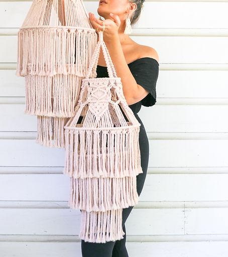Bethany Solonika Aquariust Macrame Peacock Chair Decor DIY Online Workshops chandelier