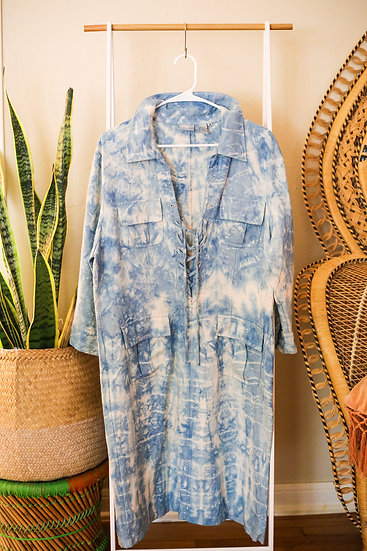 THE STARR SHIBORI DRESS