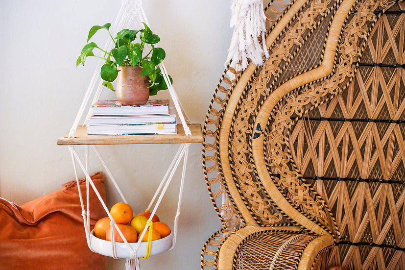 Ceramic + Woven Fruit Stand