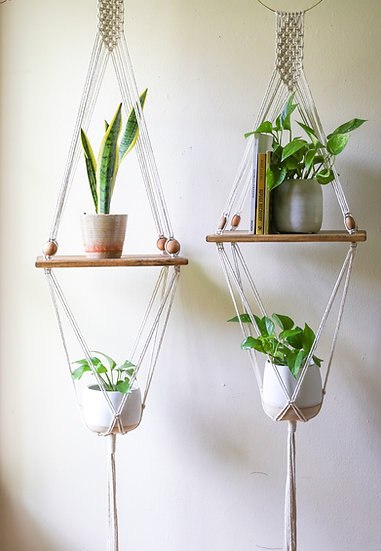 Macrame Shelving - Perfectly Imperfect