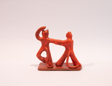 incense holder - Two dancing cats