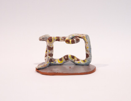 incense holder - white snake