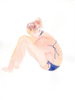 A girl in bikini