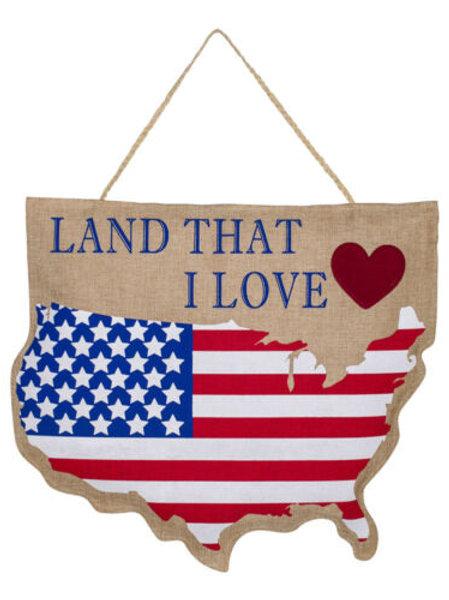 Land That I Love Door Decor 2DHB1055 Evergreen Door Hanger
