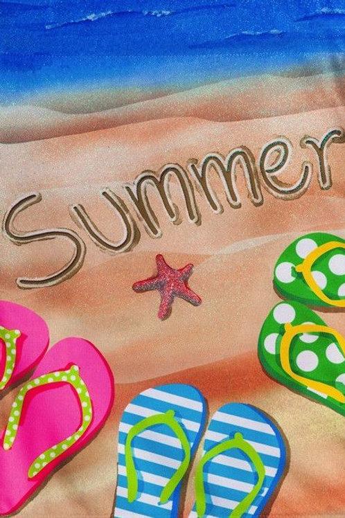 """Enjoy Summer 14L4404 Evergreen Linen Garden Flag 12.5"""" x 18"""""""