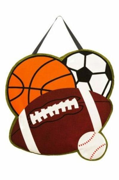Sports! Door Decor 2DHB1110 Evergreen Door Hanger
