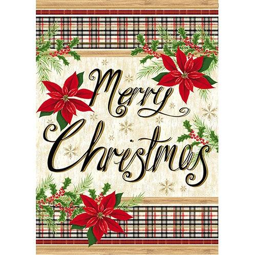 "Merry Christmas 14S8278 Evergreen Suede Garden Flag 12.5"" x 18"""