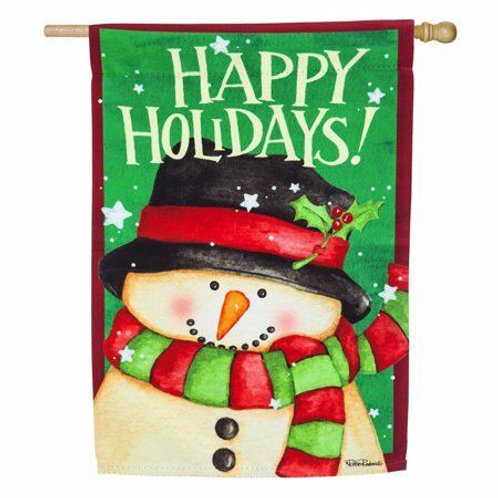 "Snow Country 13S4610 Evergreen Suede HOUSE Flag 28"" x 44"""