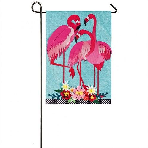 """Flamingo Garden Z14S8502 Evergreen Suede Garden Flag 12.5"""" x 18"""""""