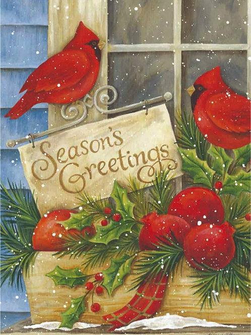 "Seasons Greeting 14S1459GC Evergreen Suede Garden Flag 12.5"" x 18"""