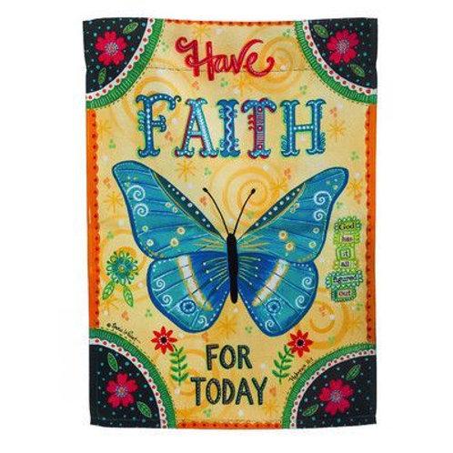 """Faith for Today 14S3834FB Evergreen Suede Garden Flag 12.5"""" x 18"""""""