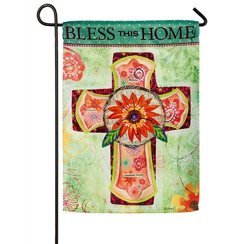 "Bless Home 14S3656.Evergreen Suede Garden Flag 12.5"" x 18"""