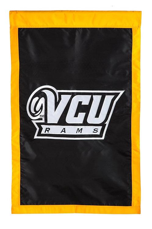 """NCAA Team Sports VCU 15910D APPLIQUE HOUSE Flag 28"""" x 44"""""""
