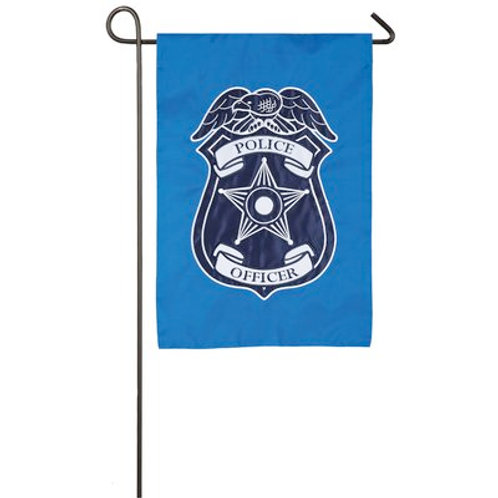 "Police Department 168609 Evergreen Applique Garden Flag 12.5""W x 18""H"