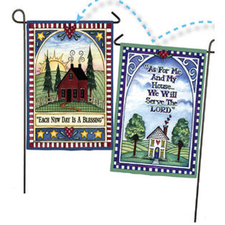 """Each Day is a Blessing 14S2138FB Evergreen Suede Garden Flag 12.5"""" x 18"""""""
