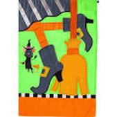 "If The Shoe Fits 168688 Evergreen Applique Garden Flag 12.5"" x 18"""