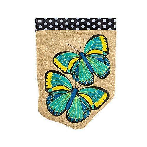 "Butterfly 13B3248 Evergreen Burlap HOUSE Flag 28"" x 44"""