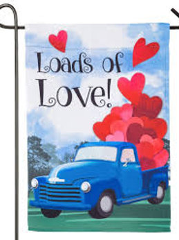 "Loads of Love 14S4016 Evergreen Suede Garden Flag 12.5"" x 18"""