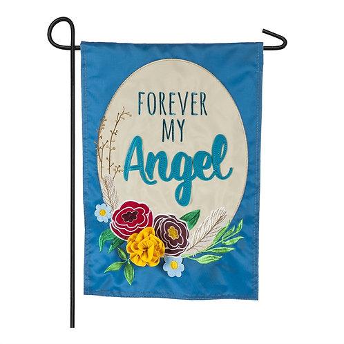 "Forever My Angel 168922 Evergreen Applique Garden Flag 12.5"" x 18"""