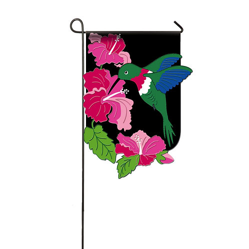 "Hibiscus 168408 Evergreen Applique Garden Flag 12.5"" x 18"""
