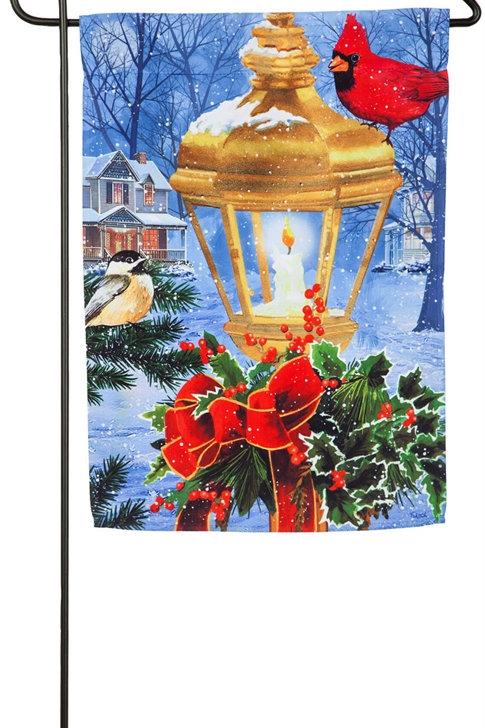 """Birds on Post 14S4625BL Evergreen Suede Garden Flag 12.5"""" x 18"""""""