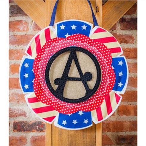 Stars and Stripes Letter Perfect Door Décor 2DHB1308 Evergreen Door Hanger