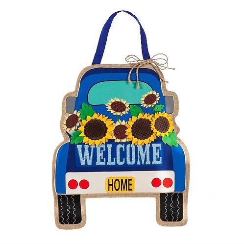 Summer Pickup Truck Door Décor 2DHB1301 Evergreen Door Hanger