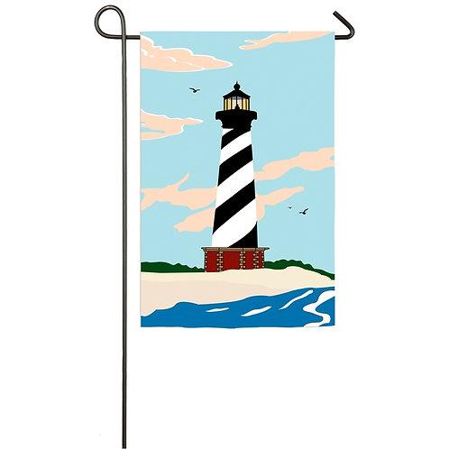 "Cape Hatteras Lighthouse 168821 Evergreen Applique Garden Flag 12.5"" x 18"""