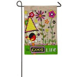 "The Good Life 14B4043 Evergreen Burlap Garden Flag 12.5"" x 18"""