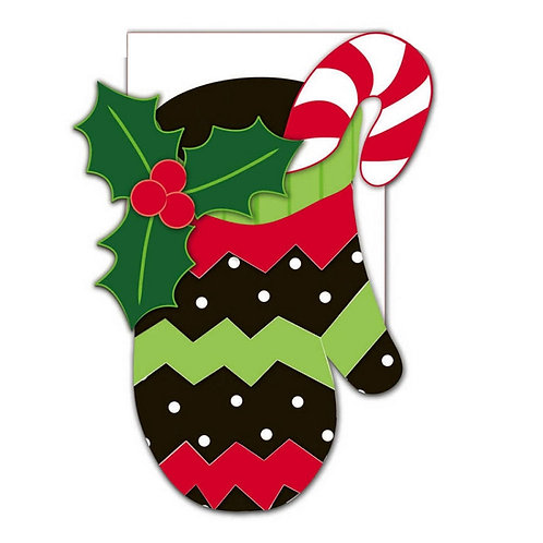 **OPEN FLAG NO PACKAGING** Holiday Mitten 158058