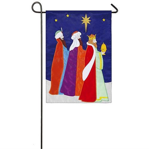 """Three Wise Men 168839 Evergreen Applique Garden Flag 12.5"""" x 18"""""""