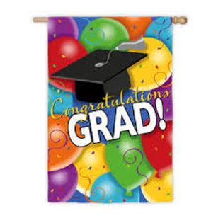 "Celebrate Grad! 14S2346 Evergreen Suede Garden Flag 12.5"" x 18"""